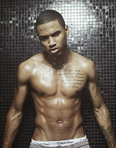 I will always love this picture of Trey Songz dripping wet! Goodness!