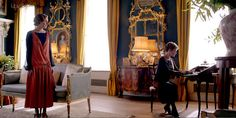 Lady Rosamund's drawing room. Downton Abbey