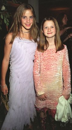 Emma Watson and Bonnie Wright, 2002. How cute!