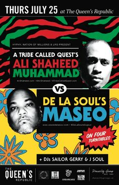 Urbanears sponsored the A Tribe Called Quest's Ali Shaheed Muhammad vs De La Soul's Maseo July 25th