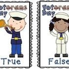 Veterans+Day+True+&+False+Pocket+Chart+Activity  Included+: Directions+and+Suggestions+For+Activity+ True+and+False+Header 12+True+and+False+Ca...
