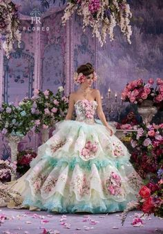 Exquisite dress design for a fab spring themed quince!: http://www.quinceanera.com/decorations-themes/spring-theme-xv/?utm_source=pinterest&utm_medium=article&utm_campaign=011815-spring-theme-xv