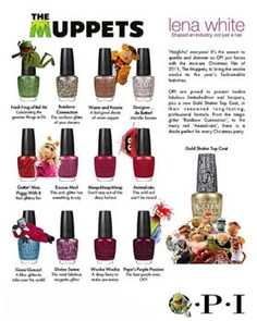 Miss Piggy lends her name to 3 high-shine pink-based hues of nail polish !!