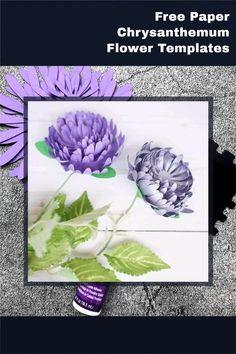 paper flower templates and tutorial, free svg and printable templates How To Make Paper Flowers, Giant Paper Flowers, Free Paper, Diy Paper, Chrysanthemum Flower, Paper Flower Tutorial, Printable Templates, Flower Template, Card Making Techniques