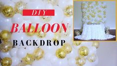You need this DIY Backdrop at your event! This DIY Balloon wall is FUN, ELEGANT, and it'd look amazing at your Wedding ceremony, or behind your Sweetheart Ta. Wedding Streamers, Streamer Backdrop, Wedding Balloon Decorations, Diy Wedding Backdrop, Balloon Centerpieces, Kids Party Decorations, Backdrop Stand, Party Ideas, Balloon Wall