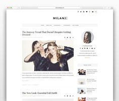 Milano - Wordpress blog theme by CityHouseDesign on @creativemarket. Price $15
