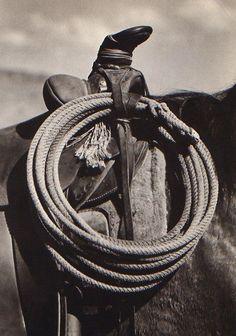 Saddle and rope. #cowboylife