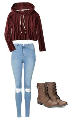 #fall #outfit / Red Hoodie + Trooper Boots
