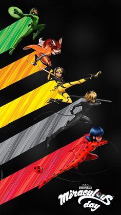 Catnoir And Ladybug, Ladybug Comics, Miraclous Ladybug, Miraculous Characters, Miraculous Ladybug Movie, Yellow Aesthetic Pastel, Positive Wallpapers, Mlb Wallpaper, Desenhos Cartoon Network