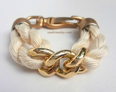 DIY tutorial Rope & Chain Bracelet