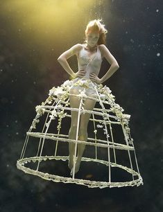 Underwater fashion photography by Zena Holloway.