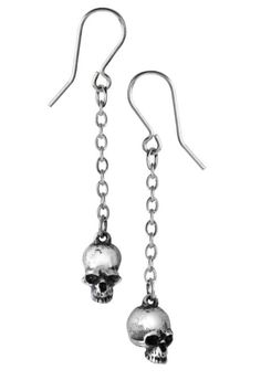 Deadskull Earrings by Alchemy Gothic