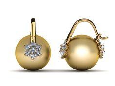 18K White Gold Diamond & Black Green Tahitian Pearl Arc De Triomphe Double Blossom Earring