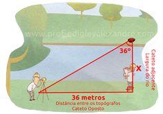 Como medir a largura de um rio? (Topografia)