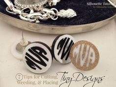 Tips for Cutting, Weeding, and Placing Tiny Silhouette Designs ~ Silhouette School