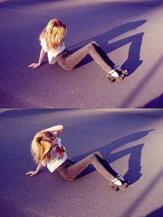 Shelley Mulshine - Denim Is Dead Jeans, Youreyeslie Cropped Top, Heels - DENIM IS DEAD