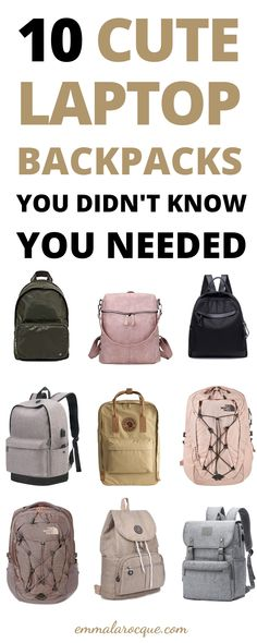 33 of the most trendy and cute school backpacks out there! These backpacks are great for college students, high school students, and teens in general. Super aesthetic backpacks for women and for travel. These backpacks come in all of the color and size options that you could dream of. Click to see them all! #school #backpack #college Backpacks For College Girl, Girl College Dorms, College Life Hacks, Trendy Backpacks, Girl Backpacks, College Tips, High School Backpacks, College Essentials, School Hacks