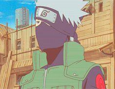 Kakashi looks like he's done with gai's crap