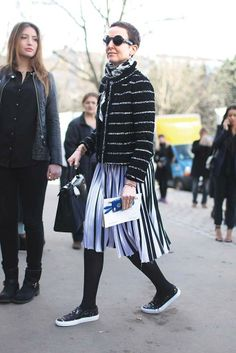 Grace Coddington popularized slip-on sneakers in Paris.