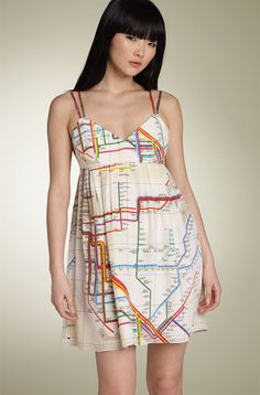 Can't decide if I'd really wear this, but it's for sure creative and colorful...and informative