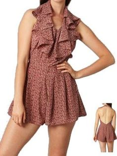 Backless Romper with Ruffle Cape Detail - $36.00 : FashionCupcake, Designer Clothing, Accessories, and Gifts