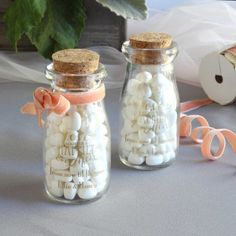 For your special day, add a little vintage flair with help from these imprinted vintage milk favor jars.