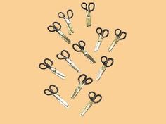 s/12 black handle scissors (SA55) - Sewing Room. Over 10,000 similar dolls house miniature products available from www.thedollshousestore.co.uk