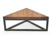 Coffee table / contemporary / wooden / triangular