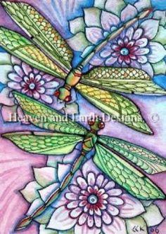QS Dragonflies Cross-Stitch Pattern