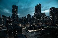 Toronto city at dusk Toronto City, Dusk, 21st Century, Skyscraper, New York Skyline, Multi Story Building, Explore, Travel, Voyage