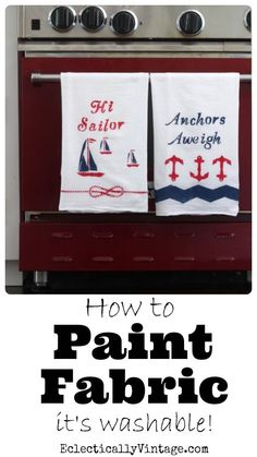 How to Paint Fabric - see how to turn fabric into washable works of art! eclecticallyvintage.com