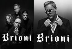 God Save the Queen and all: Metallica x Brioni #metallica #brioni #campaign
