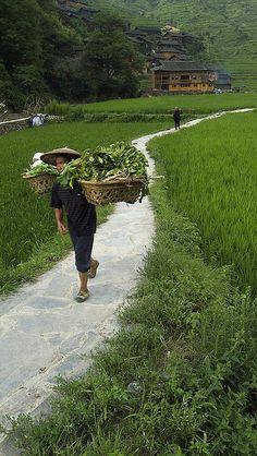 Xijiang Miao's Village . Guizhou China