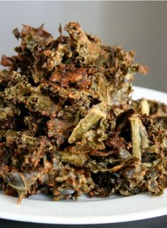 Garlic Honey Mustard Kale Chips Recipe. A healthy snack for the kids.