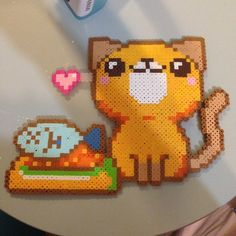 Cat perler beads by craftycreator1009