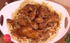 Παραδοσιακό #κοτόπουλο #κοκκινιστό με #χυλοπίτες #eleni #ελενη #ΠέτροςΣυρίγος Filets, Cauliflower, Recipies, Curry, Chicken, Meat, Vegetables, Cooking, Food
