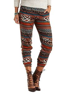 Tribal pants that we are in love with. #fashion #style https://charlotterusse.strongbark.com/?utm_source=Pinterest&utm_medium=SocialMedia&utm_campaign=WomenBoard