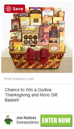 Godiva Thanksgiving and More Gift Basket Sweepstakes $250