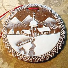 Gingerbread Winter Scene All Things Christmas, Christmas Holidays, Gingerbread Cookies, Christmas Cookies, Cookie Pictures, Iced Biscuits, Ice Art, Christmas Gingerbread House, Biscuit Cookies