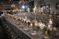 crystal and white table settings | ... Bride and Groom: Glamour Wedding - Charcoal, Mink, Blush Pink & White