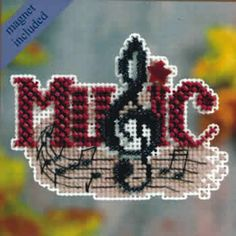 Music - Autumn Harvest 2011 - Mill Hill Counted Glass Bead Ornament Kit with Treasure A charming Music clef to celebrate a universal enjoyment! Makes one Music Mill Hill counted cross stitch glass bead ornament. Finished Size: x inches. Cross Stitch Music, Beaded Cross Stitch, Cross Stitch Kits, Cross Stitch Embroidery, Cross Stitch Patterns, Stitching Patterns, Hand Embroidery Kits, Embroidery Patterns, Ganchillo
