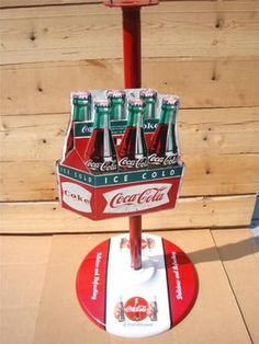 Cast Iron COCA COLA Gumball Candy Machine Stand Coke Rare Soda Jerk Button Sign