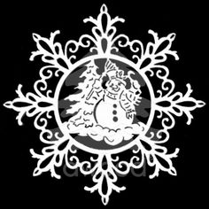 Vločka složitá - sněhulák