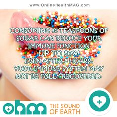 Reduce your sugar. www.onlinehealthmag.com