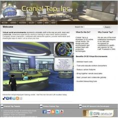 The techie and modern website design for Cranial Tap.