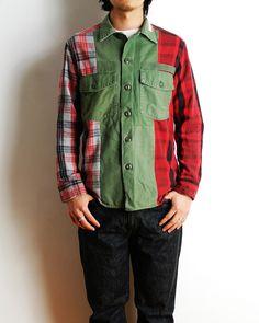 ANDEM x SD Remake Army Shirt, SD 5P Black Denim Pants 905-One Wash