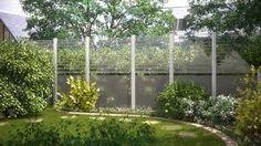 Image result for sichtschutz glas garten