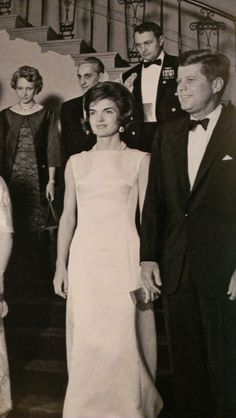 Jackie and Jack at a formal White House dinner