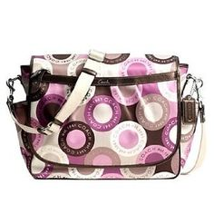 Coach Snaphead Signature Baby Diaper Messenger Bag Purse Tote