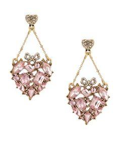 Chandelier earrings..pink!